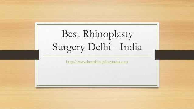 Best Rhinoplasty Surgery Delhi India