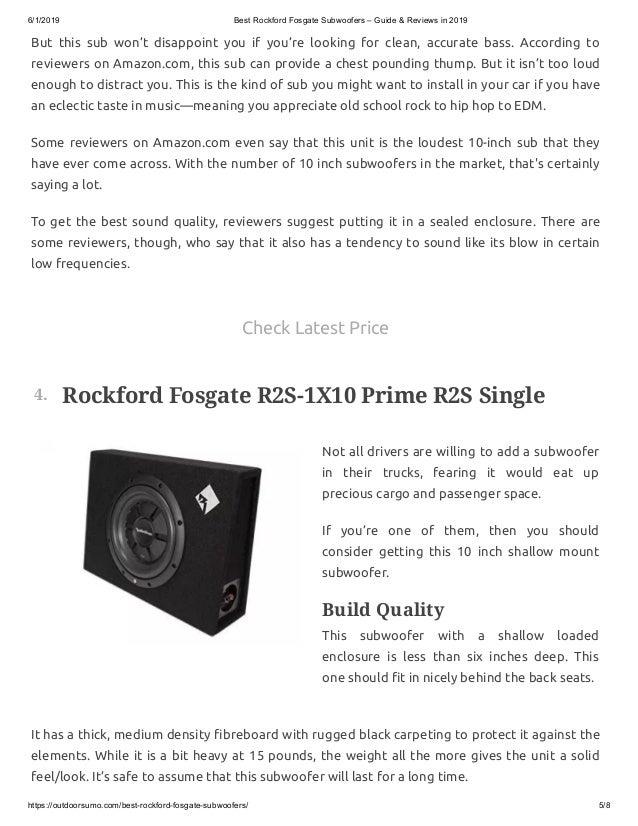 rockford fosgate r2 review - rockford fosgate subs review