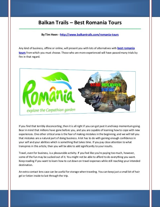 Balkan Trails – Best Romania Tours_____________________________________________________________________________________   ...