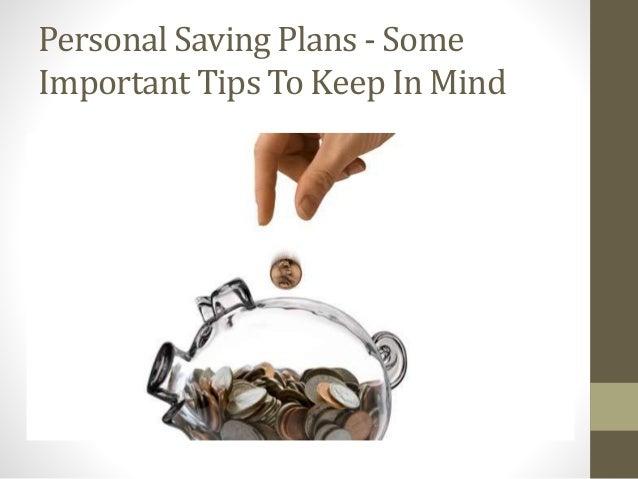 Personal Saving Plans