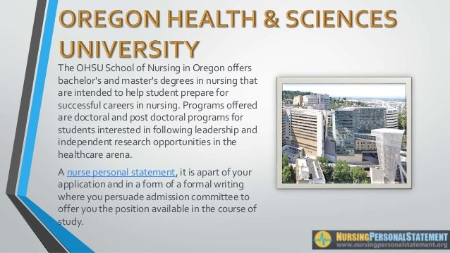 ohsu nursing application essay Ohsu is the states only health and research university it is unlike any other institution in oregon  dentistry and nursing  essays, interviews and admissions process,.