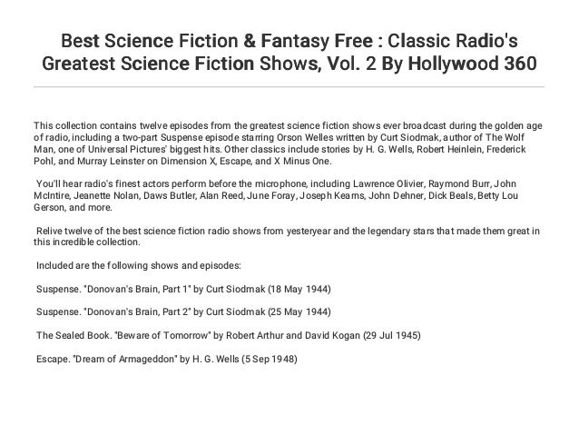 Best Science Fiction & Fantasy Free : Classic Radio's