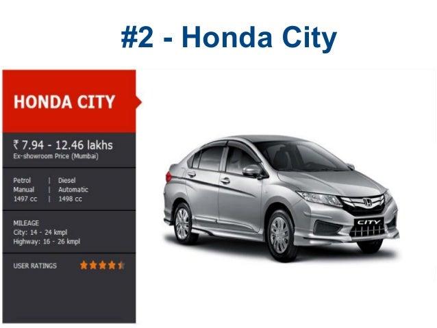 #2   Honda City ...