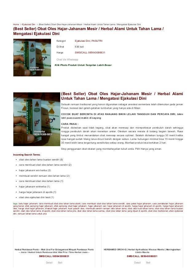 Kategori Ejakulasi Dini, PASUTRI Di lihat 636 kali Harga SMS/CALL 085643086831 Klik Photo Produk Untuk Tampilan Lebih Besa...