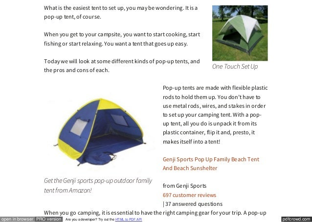 It is a; 2. ...  sc 1 st  SlideShare & Easiest Tent to Set Up | Camping Made Easy