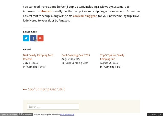5. pdfcrowd.comopen ...  sc 1 st  SlideShare & Easiest Tent to Set Up | Camping Made Easy