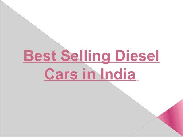Best Selling Diesel Cars in India