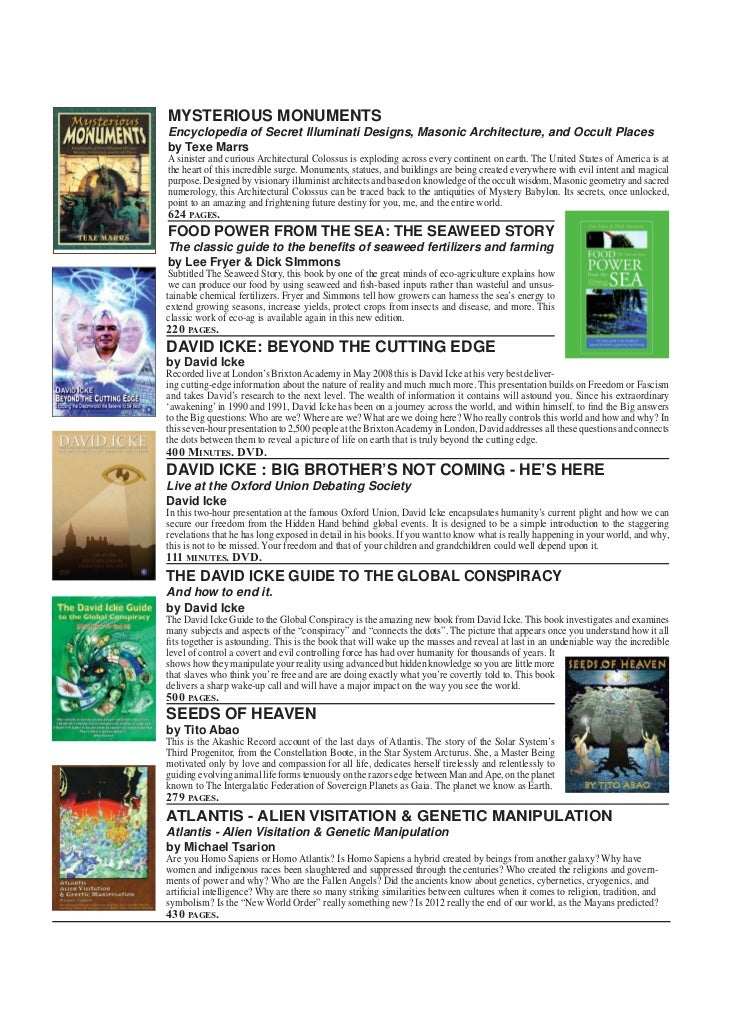 FRONTIER CATALOGUE NEW ITEMS   MYSTERIOUS MONUMENTS   Encyclopedia of Secret Illuminati Designs, Masonic Architecture, and...