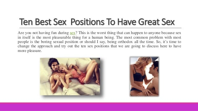 The right way to have great sex