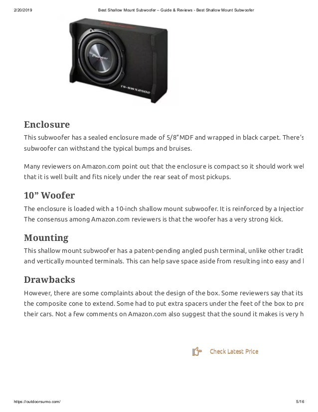 best shallow mount 10 - the best 8 inch subwoofer - 20 inch