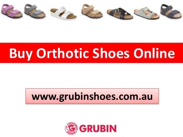Buy Orthotic Shoes Online www.grubinshoes.com.au