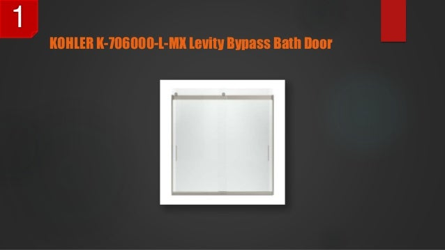 kohler k706000lmx levity bypass bath door 1