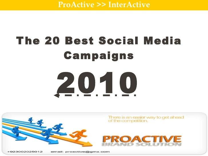 Best social media campaign