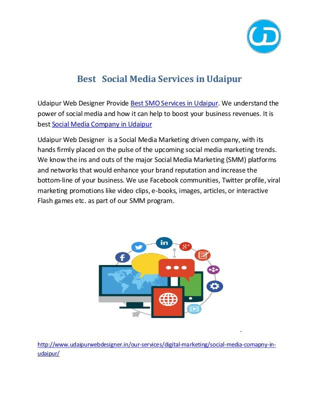 Best Social Media Services in Udaipur Udaipur Web Designer Provide Best SMO Services in Udaipur. We understand the power o...