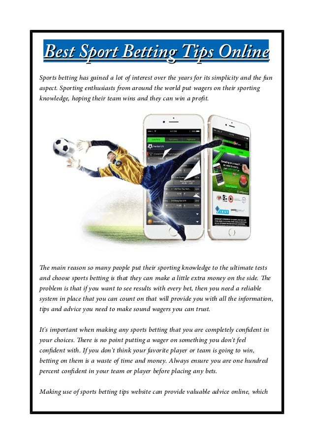 Sport betting advice online betting company