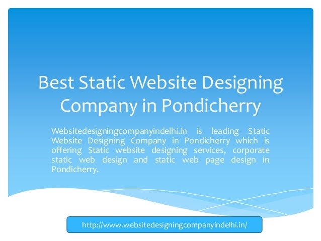 Best Static Website Designing Company In Pondicherry