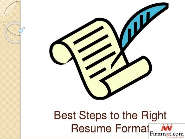 Right Resume Format Image collections - resume format examples 2018