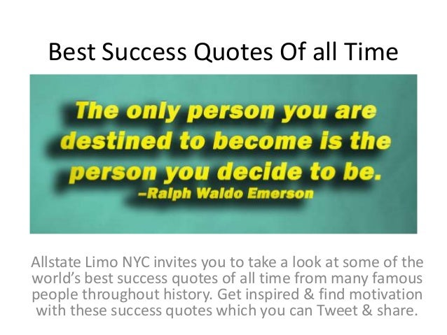 Best Success Quotes Of All Time