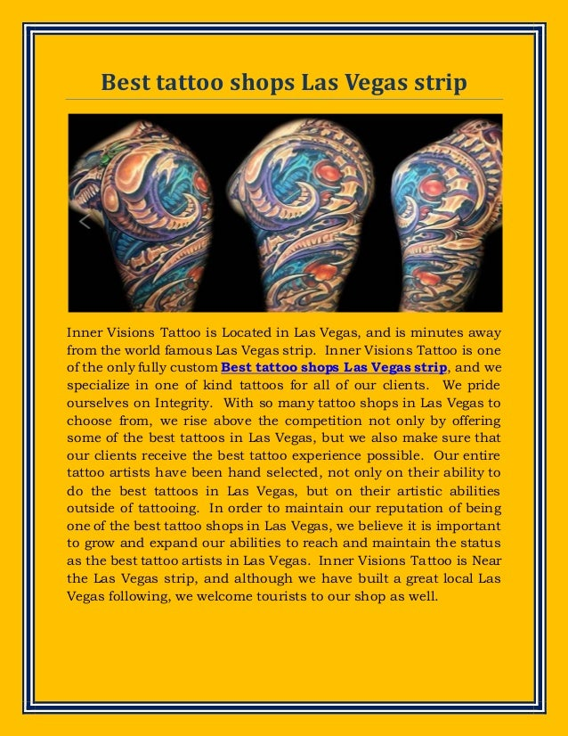 Best tattoo shops las vegas strip