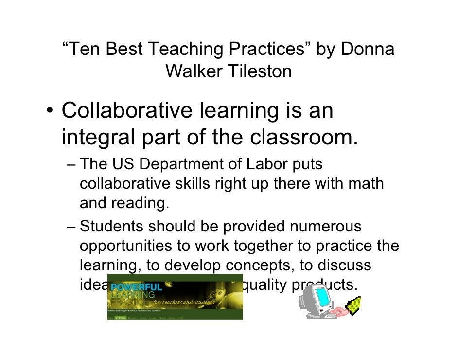 Collaborative Teaching Practices ~ Best teaching practices