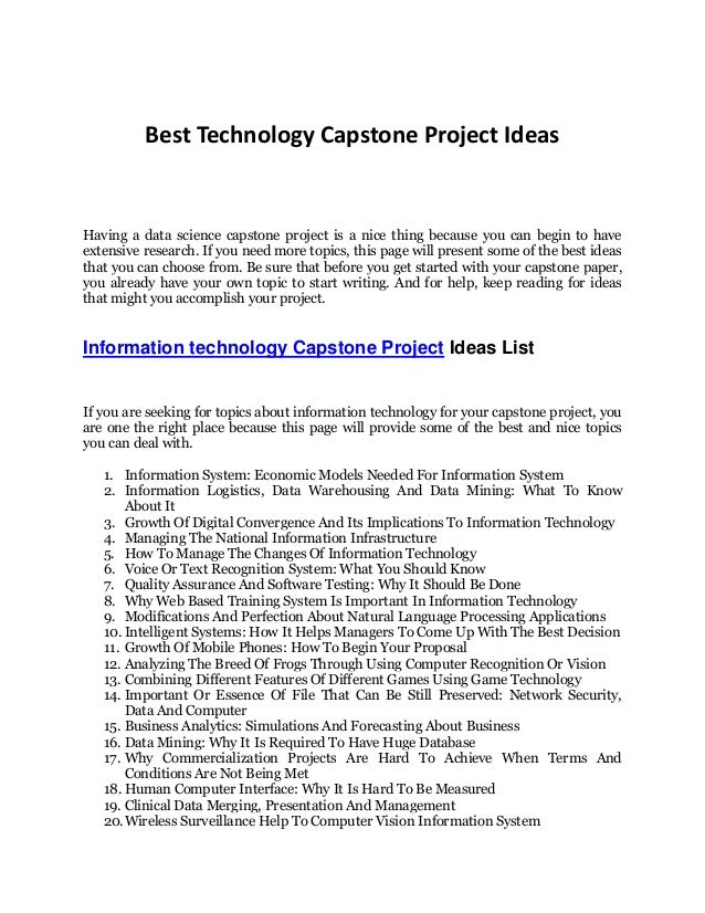 information technology research paper topics