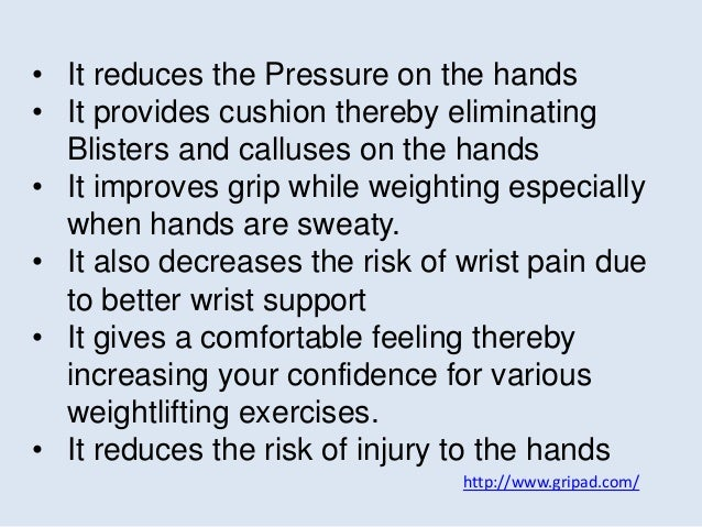 http://www.gripad.com/ • It reduces the Pressure on the hands • It provides cushion thereby eliminating Blisters and callu...