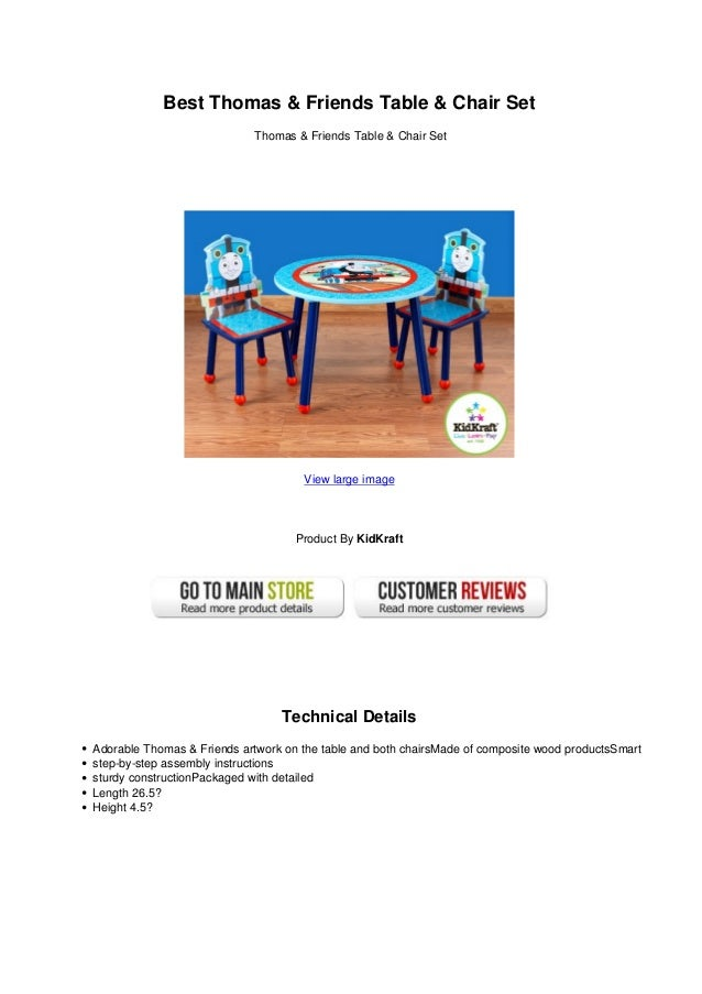 Best thomas friends table chair set