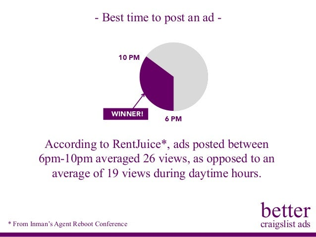 From Inmanu0027s Agent Reboot Conference; 4. Bettercraigslist ...
