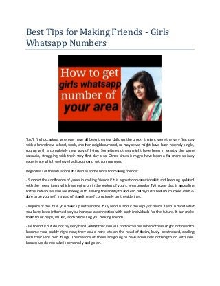 Whatsapp Girl Real Number