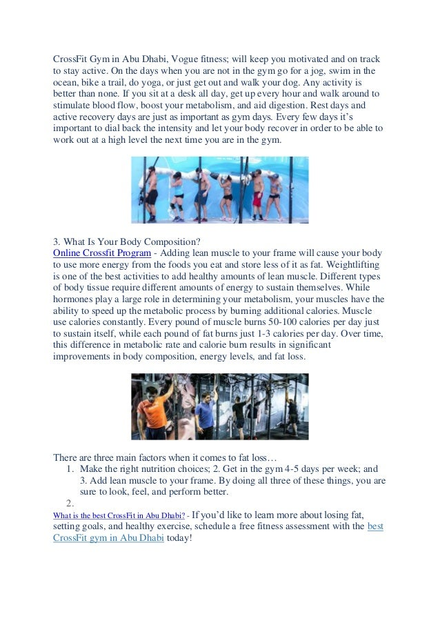 Best Tips To Lose Your Body Fats Best Crossfit In Abu Dhabi Uae