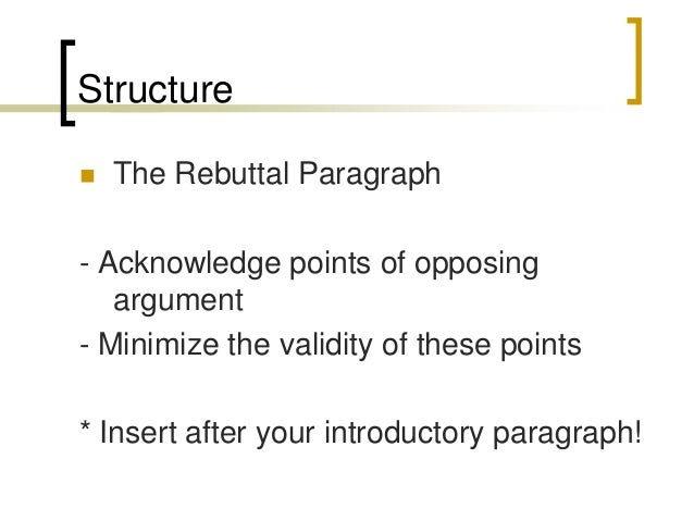 how to start a rebuttal paragraph