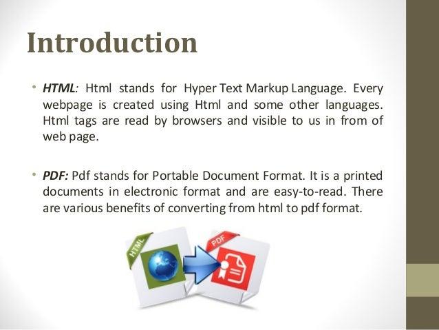 Pdf html language