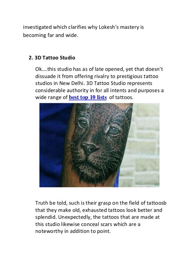 Best top10 lists of tattoo artist in india for How to become a tattoo artist in india