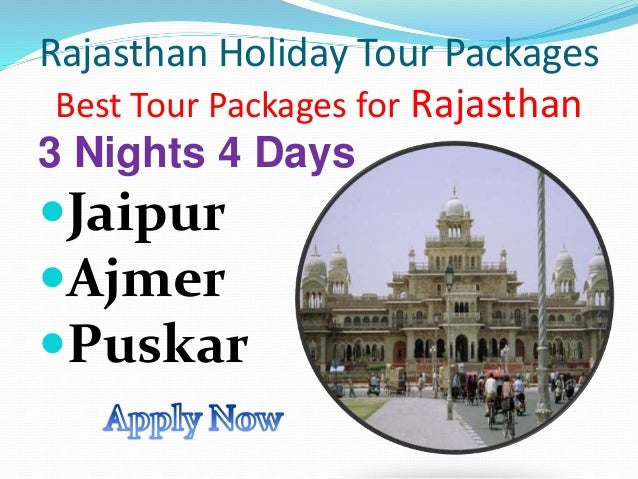 Rajasthan Holiday Tour Packages  Best Tour Packages for Rajasthan  3 Nights 4 Days  Jaipur  Ajmer  Puskar