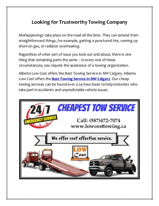 Towing Service Cost >> Best Towing Service In Nw Calgary