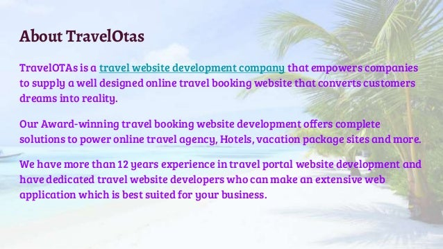 Best Travel Website Development Company In India