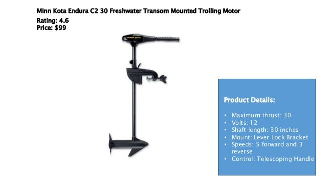 Best trolling motor for kayak for 30 lb thrust trolling motor speed