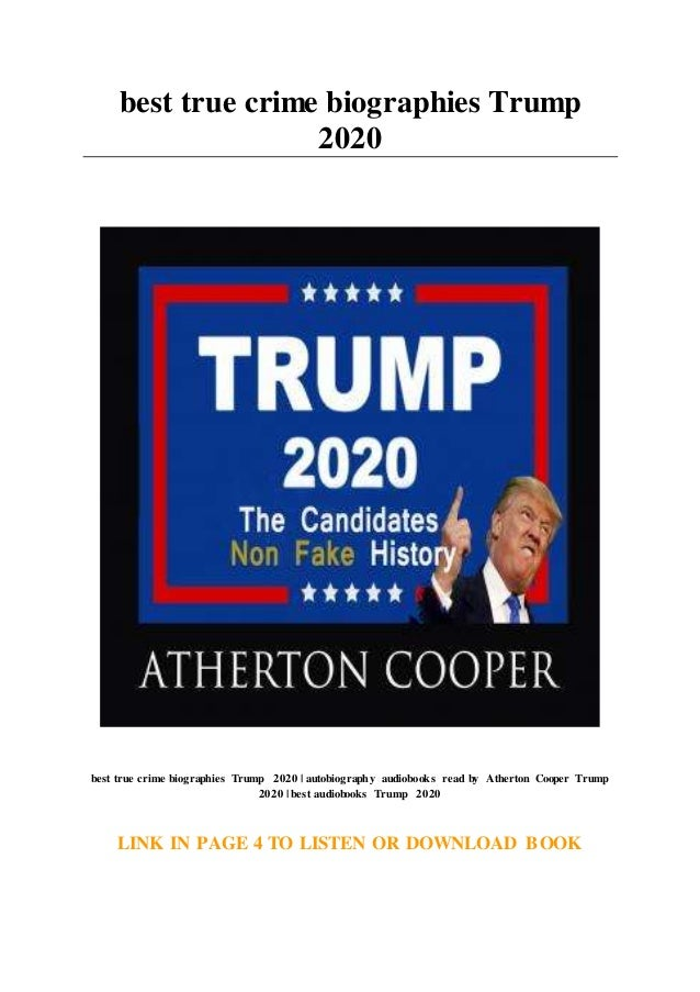 Best Audiobooks 2020.Best True Crime Biographies Trump 2020