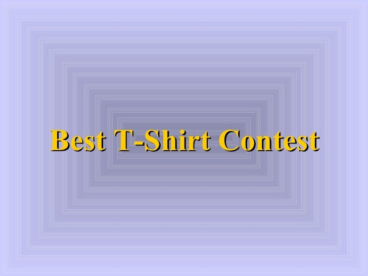 Best T-Shirt Contest