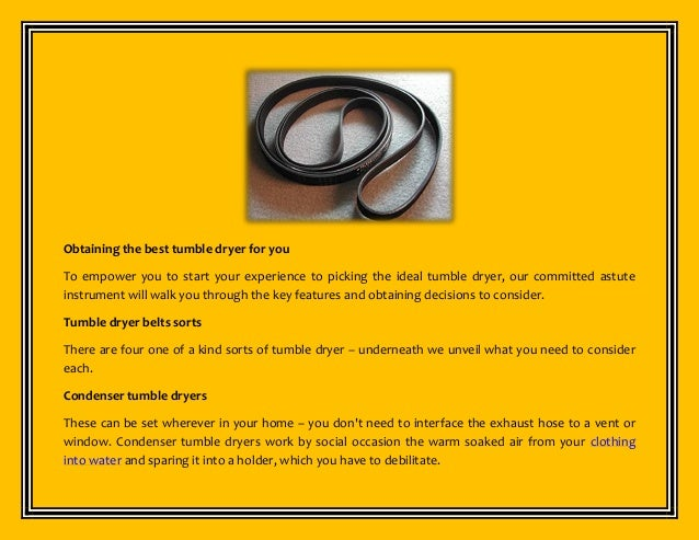 Best tumble dryer belts buying instructions guide.