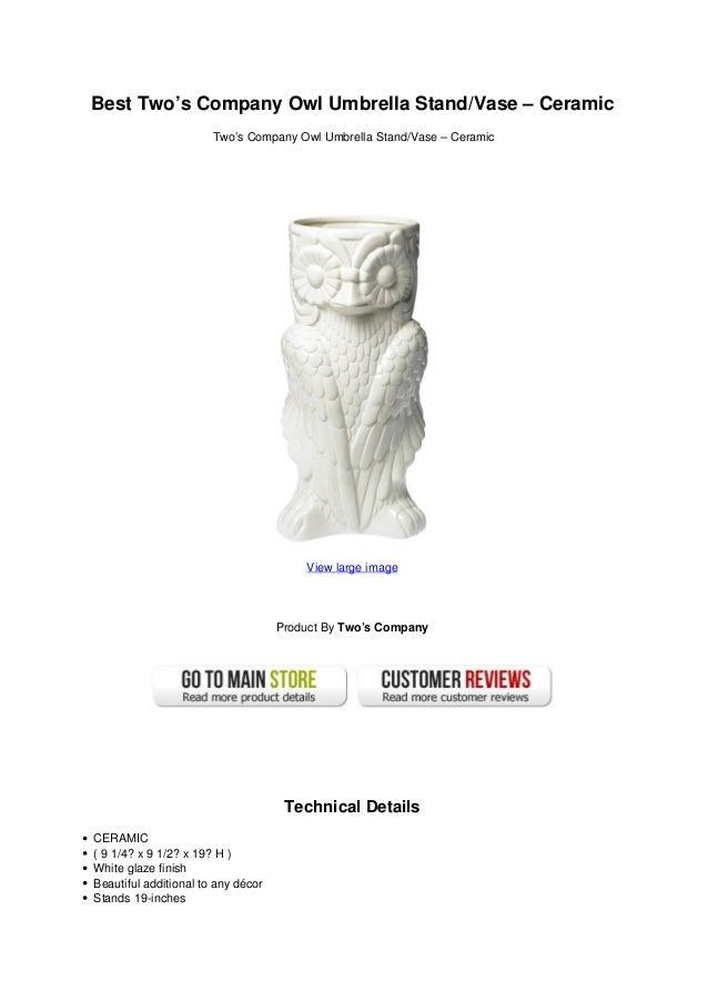 Best Twos Company Owl Umbrella Stand Vase Ceramic