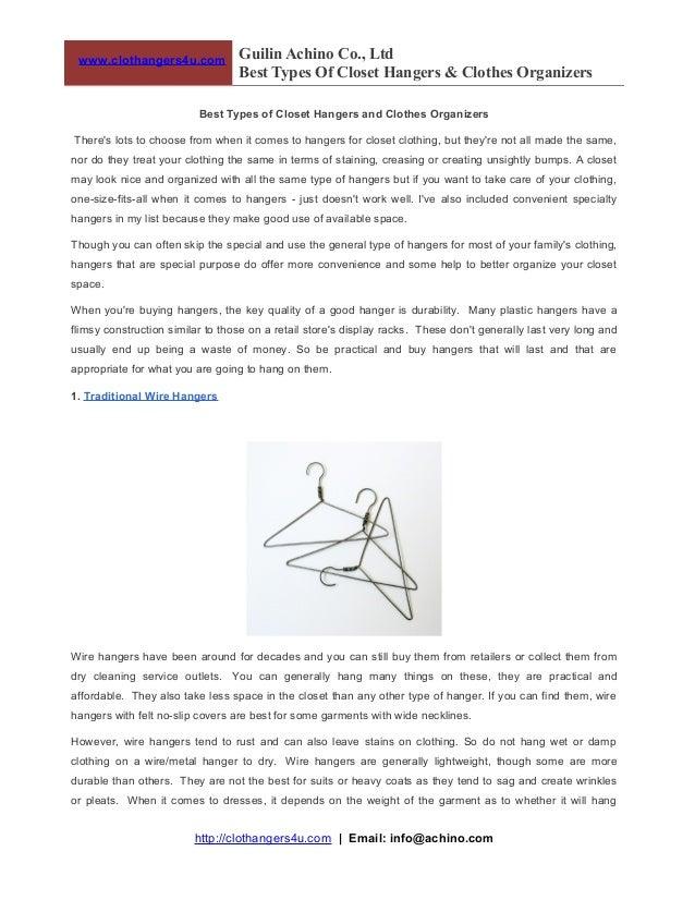 www.clothangers4u.com  Guilin Achino Co., Ltd Best Types Of Closet Hangers & Clothes Organizers  Best Types of Closet Hang...