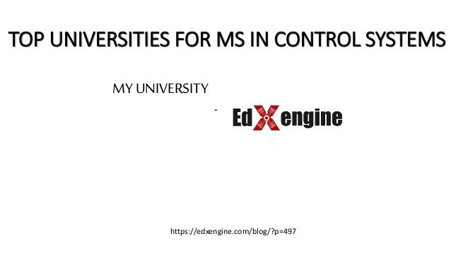 Best Universities In Usa >> Top Universities In Us For Ms In Control Systems