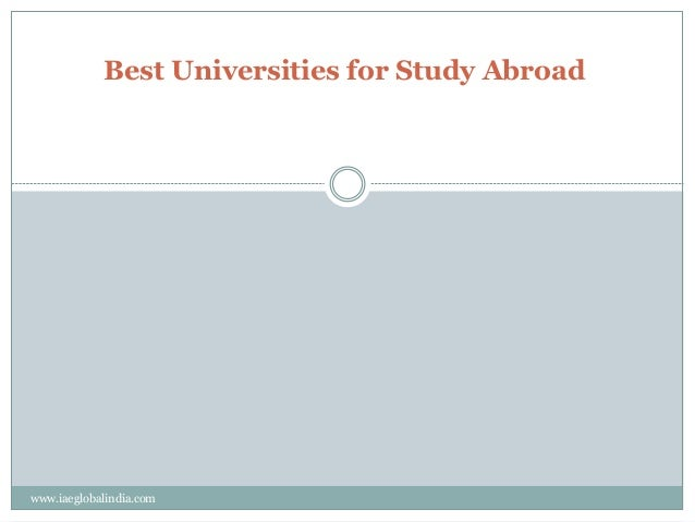 best colleges for study abroad