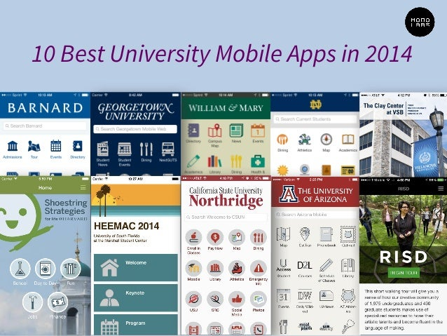 10 Best University Mobile Apps in 2014