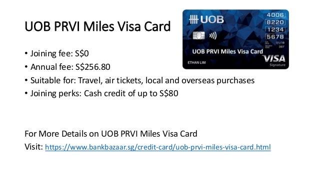 Best uob credit cards in singapore uob prvi miles visa card reheart Images