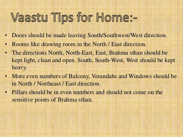 Best vastu shastra tips for home and business 2015 North facing living room