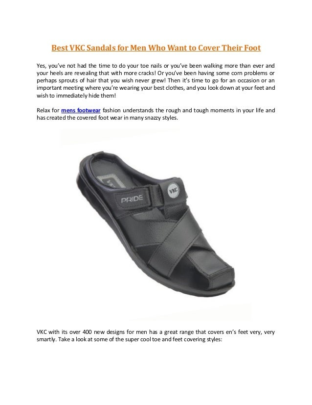 Best VKC Sandals for Men Who Want to