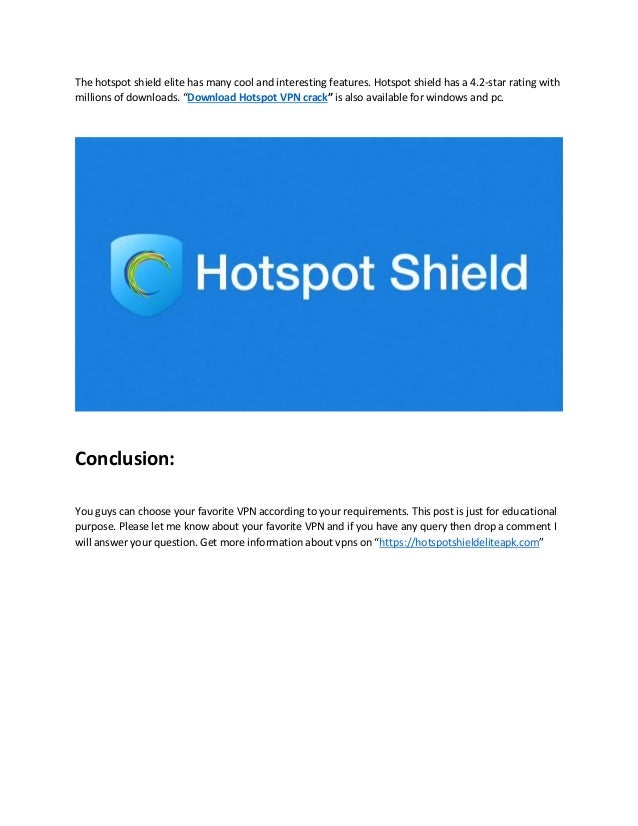 Hotspot shield free download for windows 7 64 bit with crack