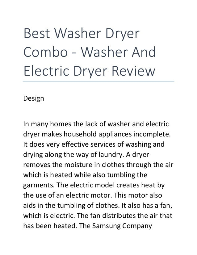 best washer dryer combo washer and electric dryer review design in many homes the lack
